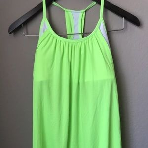 LULULEMON No Limits Shelf Bra Top NeOn GREEN - 8